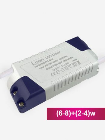 LED Driver (6-8)+(2-4)w